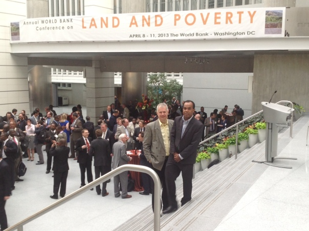 Spike Boydell (L) and Ulai Baya (R) at the World Bank Land and Poverty Conference 2013