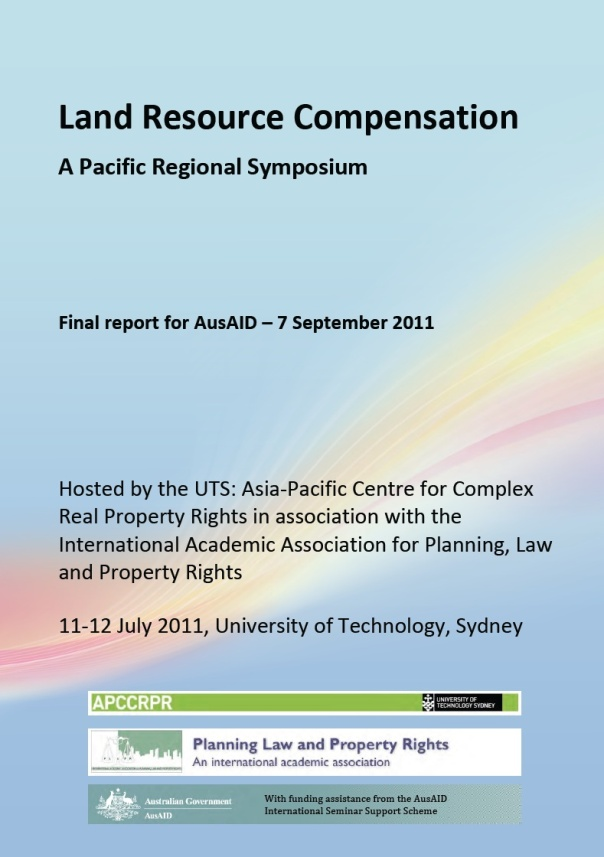 Click on image to access the full Symposium report (4mb) and papers.