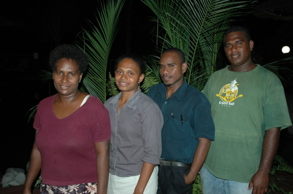 The future of valuation in the Solomon Islands (Left to Right) Lilian Ha'apio, Ester Tegu, Charles Koroni and Robert Misimaka.