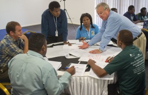 Honiara CASLE Symposium August 2014 HBA workshop 2 Mike McDermott explaining HIDEGRE