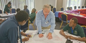 Honiara CASLE Symposium August 2014 HBA workshop 3 Mike McDermott explaining HIDEGRE